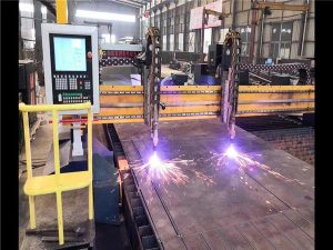 Double Drive Gantry CNC Plasma Cutting Machine H Beam Line Line Hypertherm CNC System